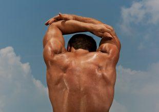 Matt Gunther Photographer SPORT Runner stretching. Matt Gunther