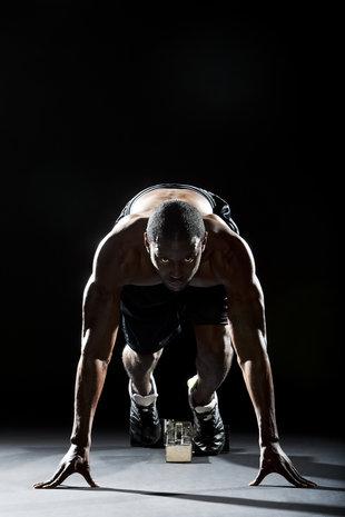 Matt Gunther Photographer Overview Runner in Sprinter Stance. Matt Gunther