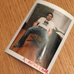Lookie hear,  just found a Polaroid of brett ratner from the free mj days. Times r a changing #editorialphotography