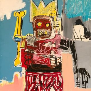 Cool dude #basquiat #warrior #peterbrantfoundation